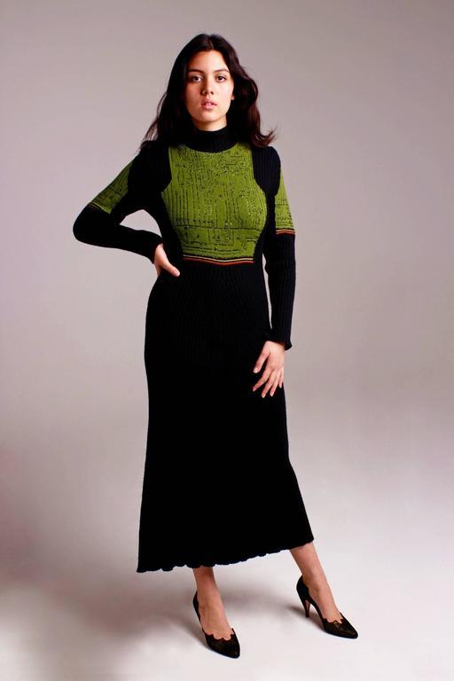 Jean Paul Gaultier Knit Circuit Board Dress, 1990s   For Sale 2