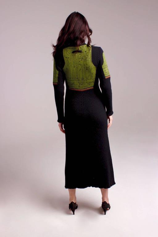 Jean Paul Gaultier Knit Circuit Board Dress, 1990s   For Sale 3