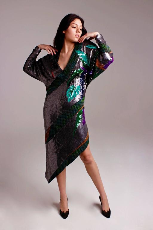Rare beaded and sequin Krizia Snake Dress  - sale For Sale 4
