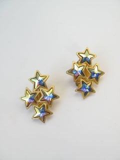 1980s Mary Frost Star Earrings