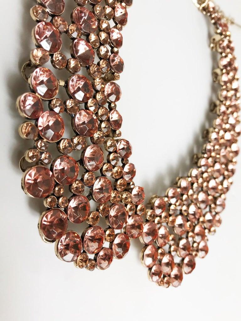 Oscar de la Renta oversized rhinestone collar.  17