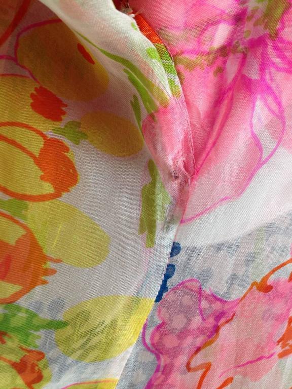 1960s Kiki Hart Floral Dress 9