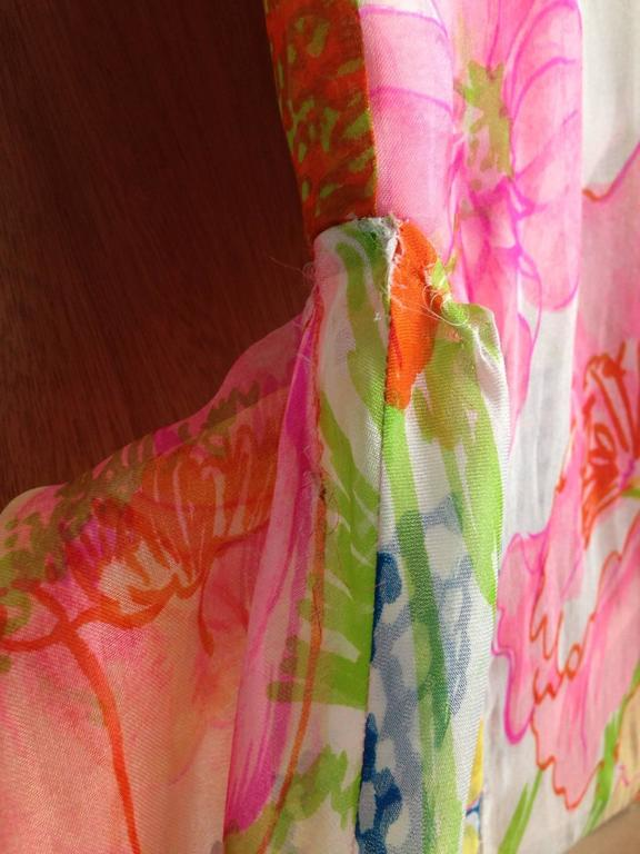 1960s Kiki Hart Floral Dress 10