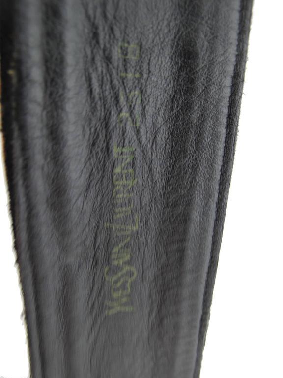 Yves Saint Laurent Suede Double Wrap Waist Belt 4