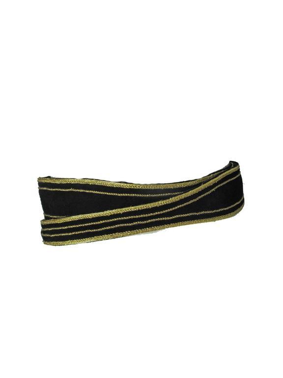 Yves Saint Laurent Suede Double Wrap Waist Belt 2