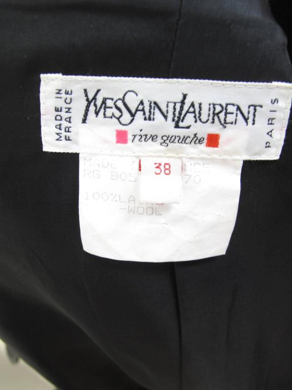 Yves Saint Laurent Cropped Tuxedo Jacket 6