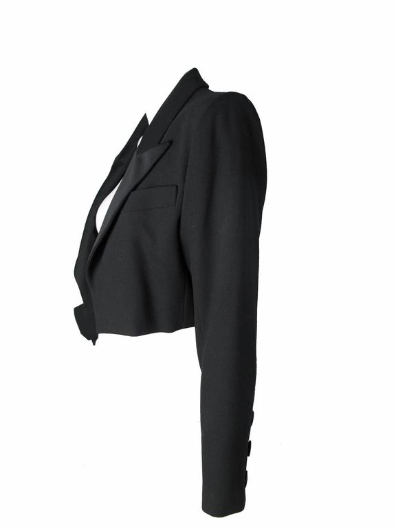 Yves Saint Laurent Cropped Tuxedo Jacket 2