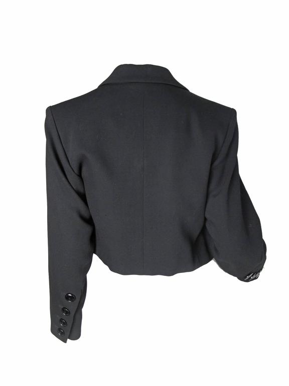 Yves Saint Laurent Cropped Tuxedo Jacket 3
