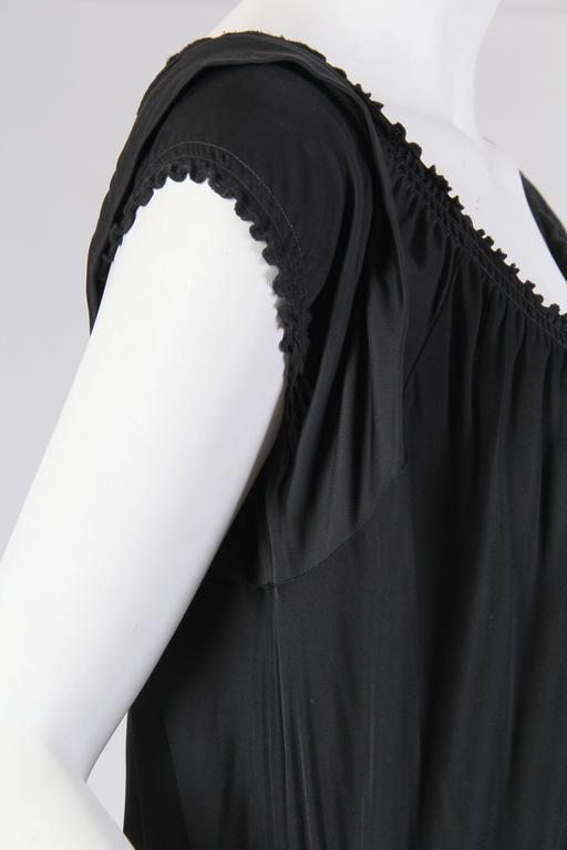 1990S JEAN PAUL GAULTIER Black Jersey Cocktail Dress With Spiral Ruching NWT For Sale 4