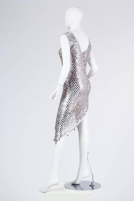 1960s Paco Rabanne Style Chain-Mail Dress In Excellent Condition For Sale In New York, NY