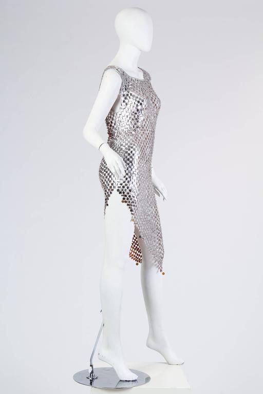 1960s Paco Rabanne Style Chain-Mail Dress For Sale 1