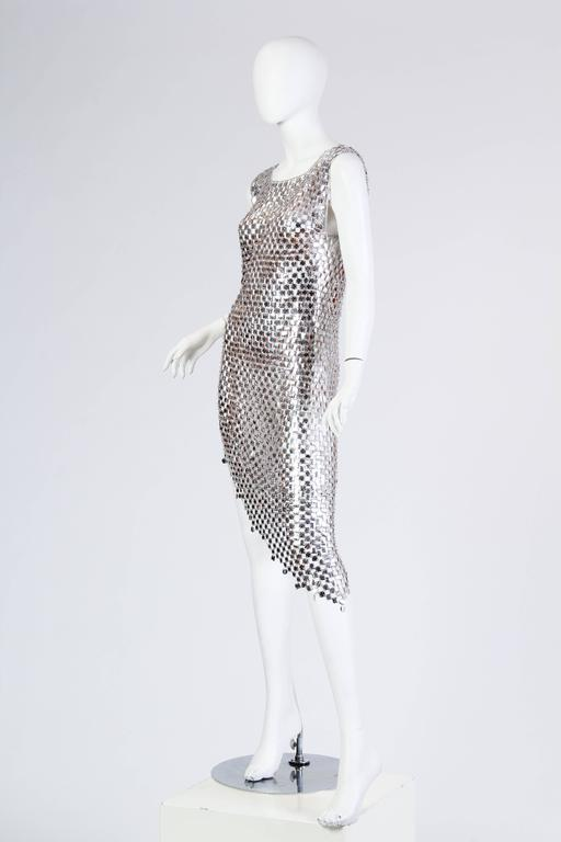 Women's 1960s Paco Rabanne Style Chain-Mail Dress For Sale
