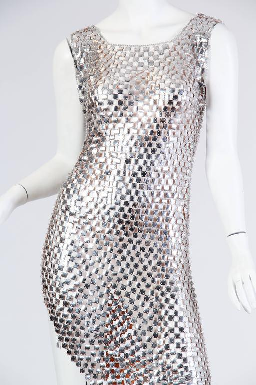 1960s Paco Rabanne Style Chain-Mail Dress For Sale 2