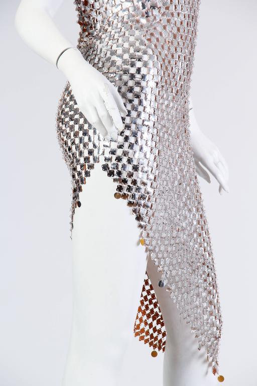 1960s Paco Rabanne Style Chain-Mail Dress For Sale 3
