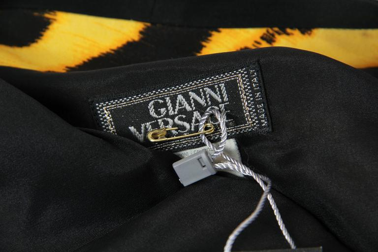 Gianni Versace Couture Leopard Zipper Silk Top For Sale 5