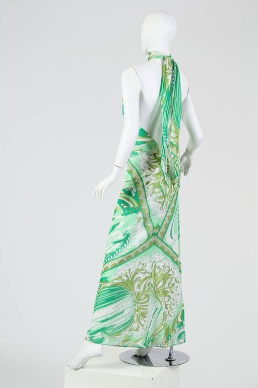 Women's or Men's Pucci Bias Cut Backless Cotton Maxidress For Sale