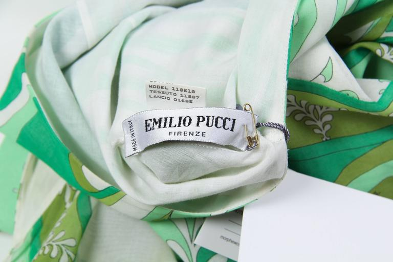 Pucci Bias Cut Backless Cotton Maxidress For Sale 6