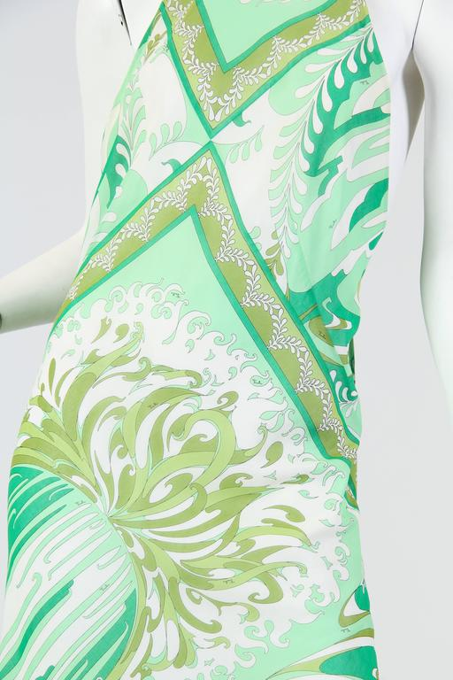 Pucci Bias Cut Backless Cotton Maxidress For Sale 2
