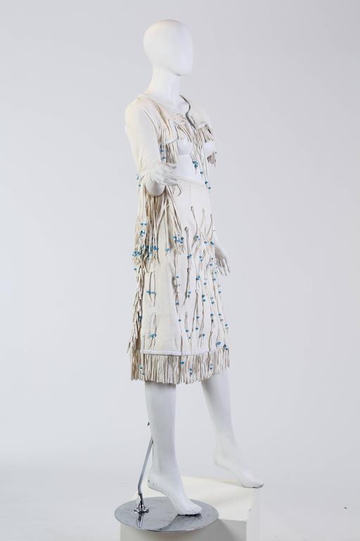 Giorgio Sant Angelo Native American Collection White Suede Fringe Ensemble 5