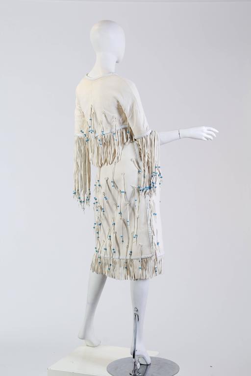 Giorgio Sant Angelo Native American Collection White Suede Fringe Ensemble 4