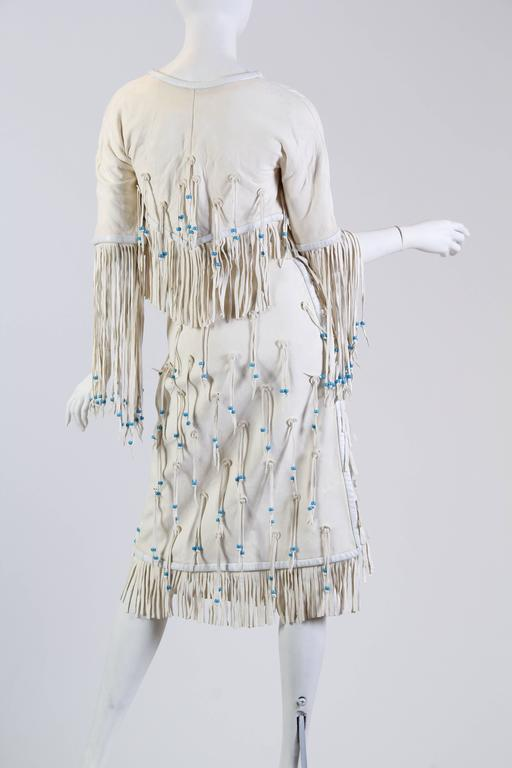 Giorgio Sant Angelo Native American Collection White Suede Fringe Ensemble 6