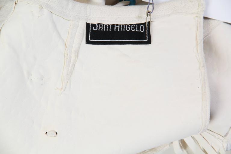 Giorgio Sant Angelo Native American Collection White Suede Fringe Ensemble 10