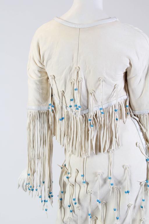 Giorgio Sant Angelo Native American Collection White Suede Fringe Ensemble 8