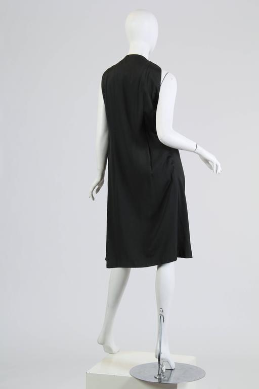 Black Very Unique Avant Guarde Pauline Trigere Dress For Sale