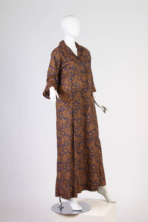 Women's or Men's Early Yves Saint Laurent Cotton Kaftan Dress For Sale