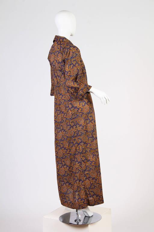 Early Yves Saint Laurent Cotton Kaftan Dress For Sale 1