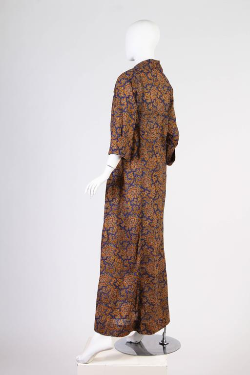 Early Yves Saint Laurent Cotton Kaftan Dress For Sale 2