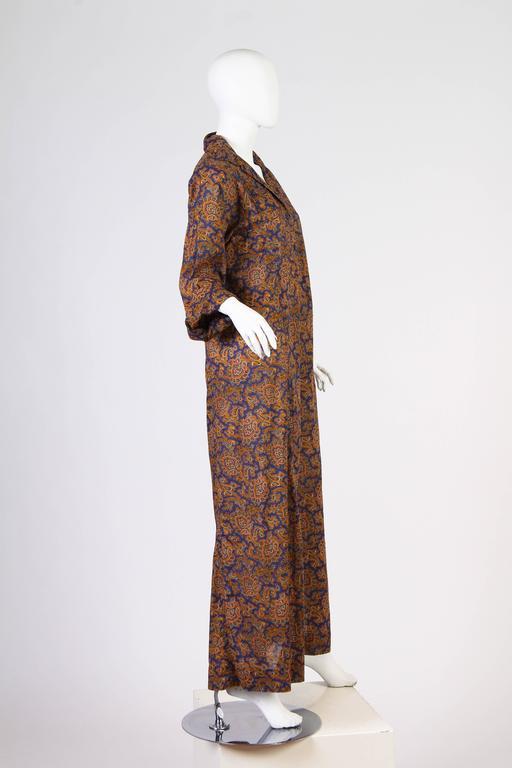 Early Yves Saint Laurent Cotton Kaftan Dress For Sale 3
