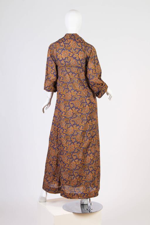 Early Yves Saint Laurent Cotton Kaftan Dress For Sale 4