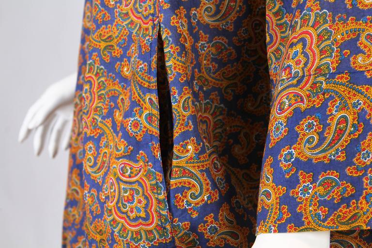 Early Yves Saint Laurent Cotton Kaftan Dress For Sale 5