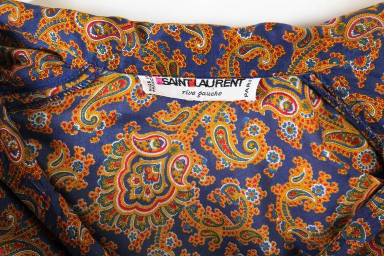 Early Yves Saint Laurent Cotton Kaftan Dress For Sale 6