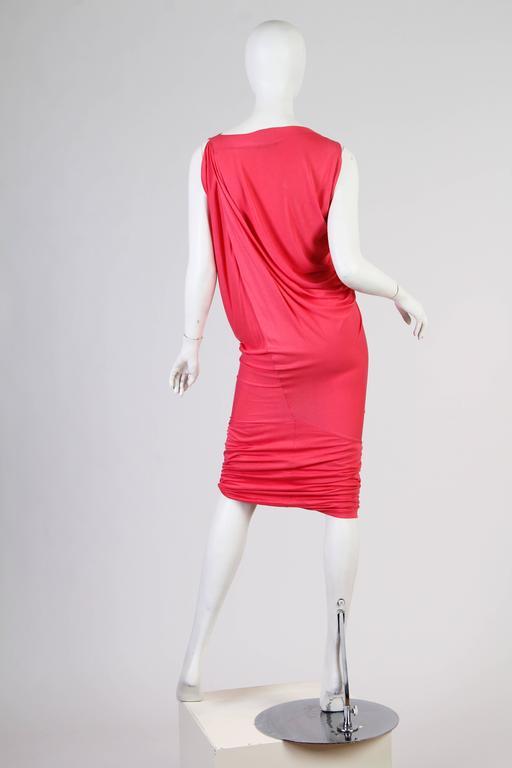 Red Vivenne Westwood Slinky Jersey Dress For Sale