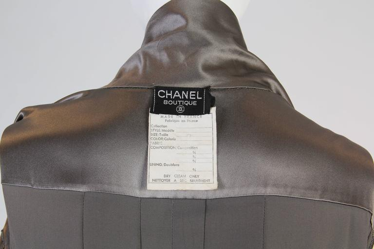 Chanel Boutique Luxe Satin Shirt Dress For Sale 4