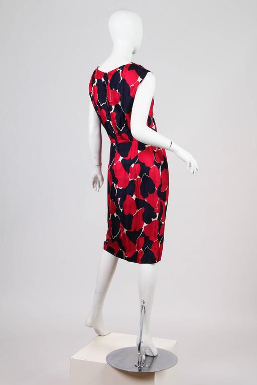 Black Early 1960s Silk Dress For Sale