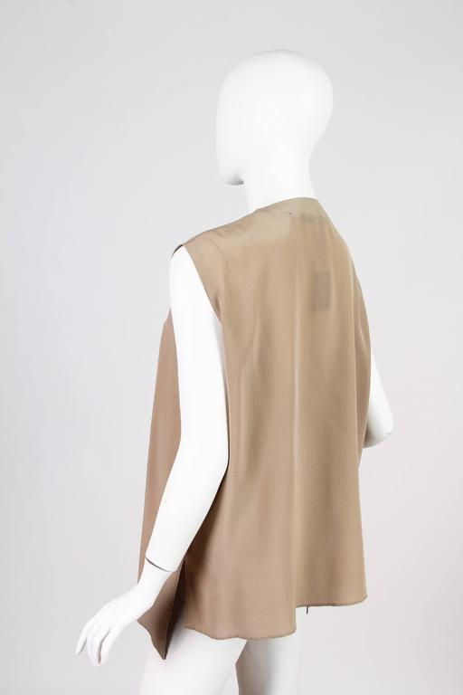 Gianfranco Ferre Minimalist Pleated Silk Vest For Sale 1