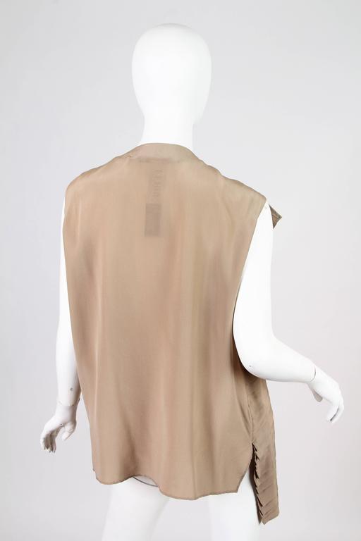 Gianfranco Ferre Minimalist Pleated Silk Vest For Sale 2