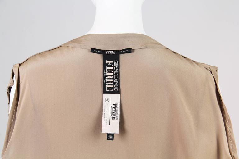 Gianfranco Ferre Minimalist Pleated Silk Vest For Sale 4