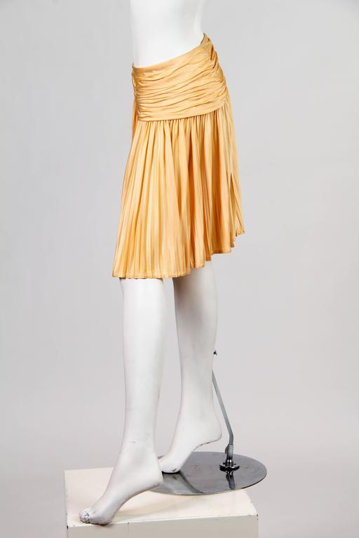 Orange Gianni Versace Couture Jersey Skirt NWT For Sale