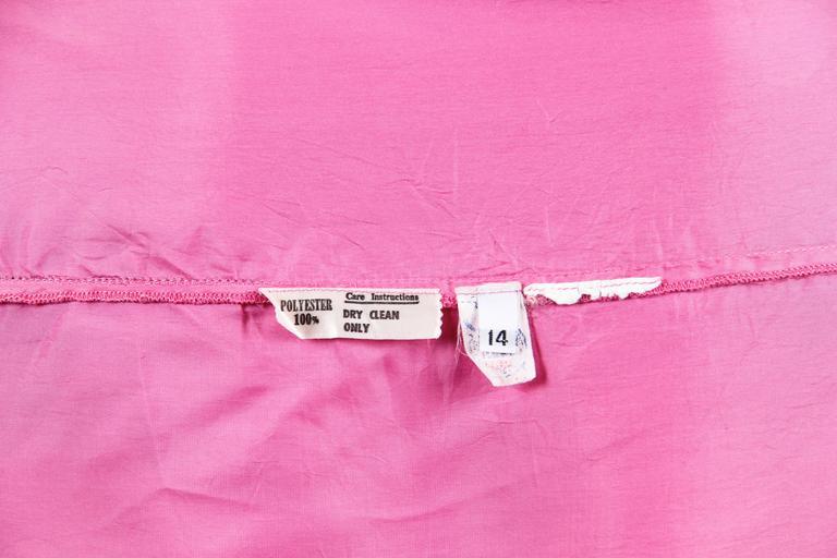 1970s Hanae Mori Romantic Silk Chiffon Dress For Sale 6