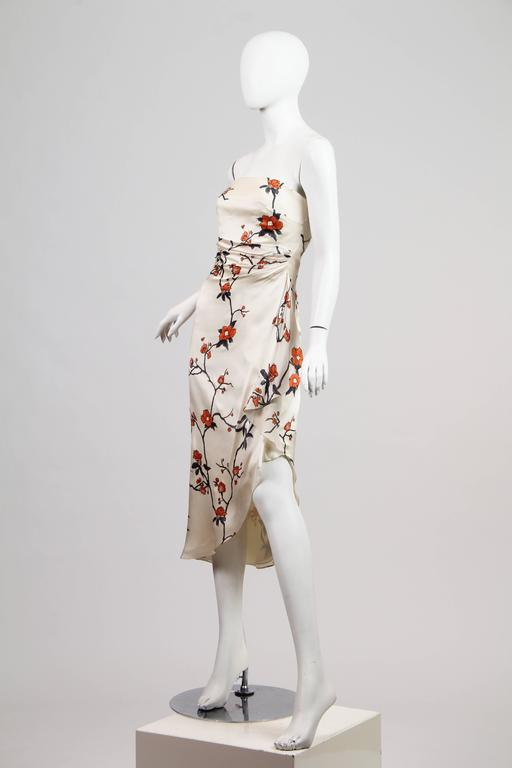 Oscar De La Renta Asian Strapless Dress In Excellent Condition For Sale In New York, NY