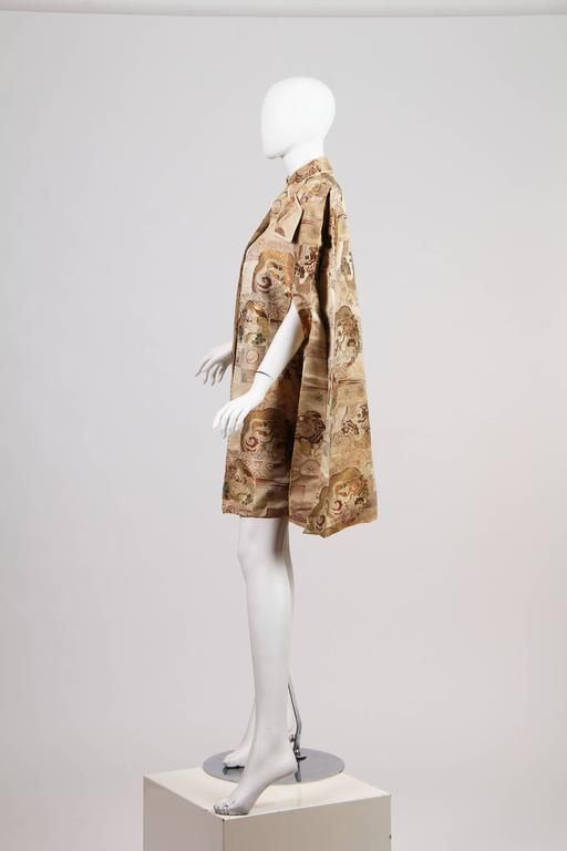 1940s Cape made from Antique Japanese Fabric with Dragons 2