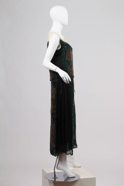 Women's 1920s ArtDeco Beaded Dress For Sale