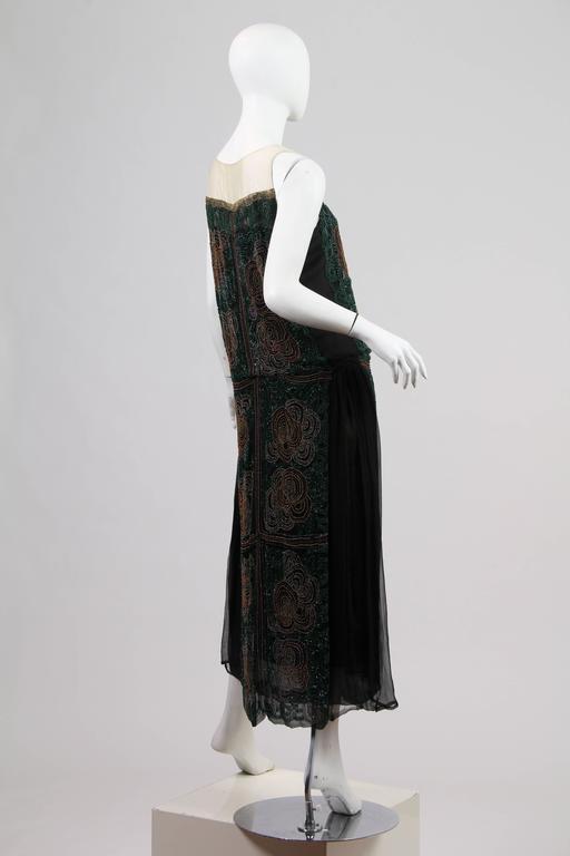 1920s ArtDeco Beaded Dress For Sale 2