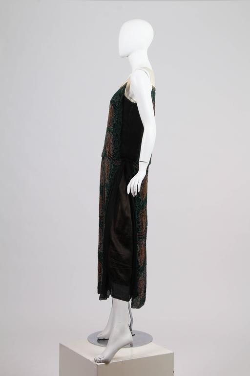 1920s ArtDeco Beaded Dress For Sale 1