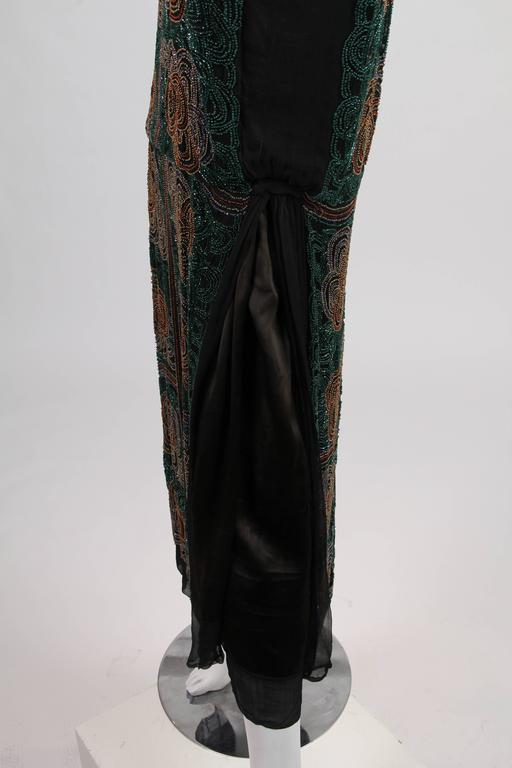 1920s ArtDeco Beaded Dress For Sale 3