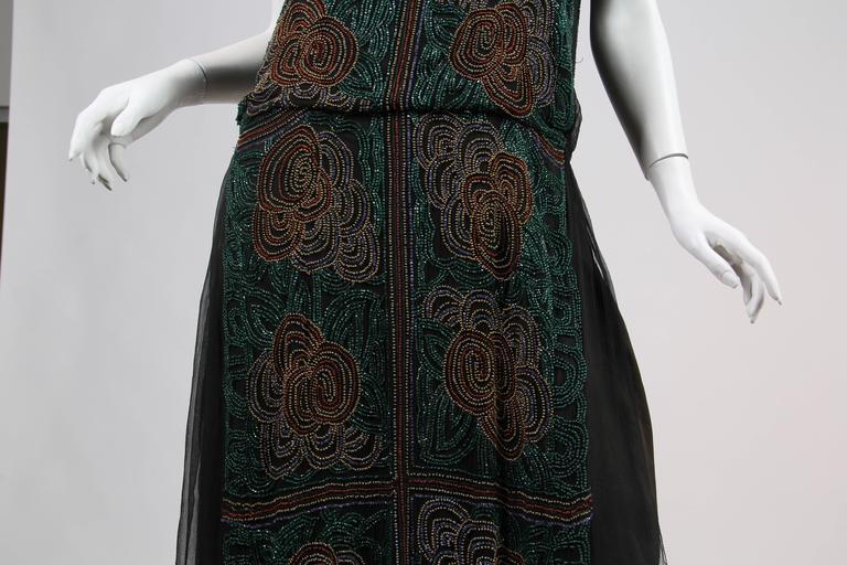1920s ArtDeco Beaded Dress For Sale 5